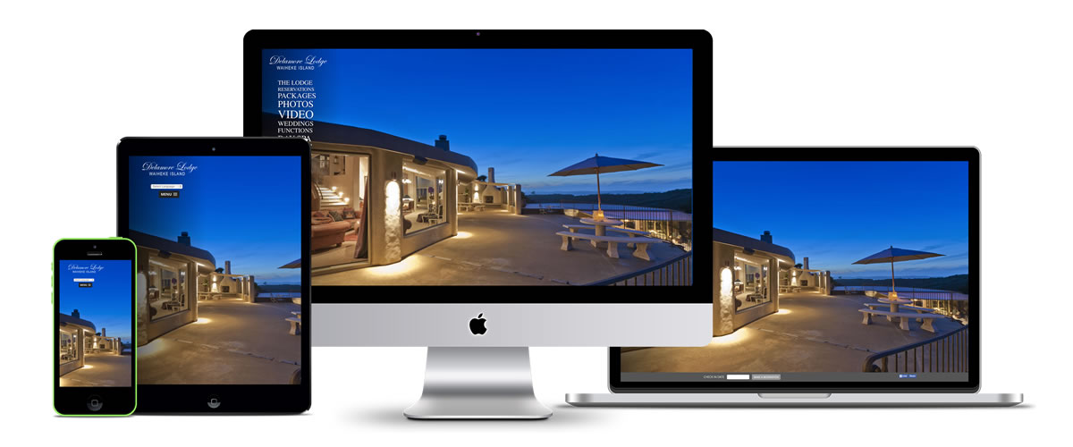 Delamore Lodge website design by Azure Creative